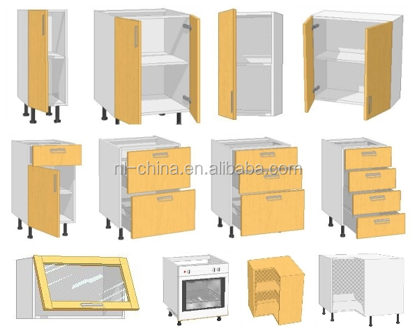 MDF,Chipboard,Plywood,solid wood,PVC,Lacquer, MFC Standard module cabinets