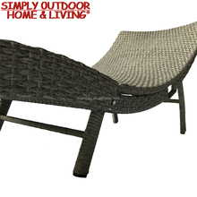 Hot Sale Rattan Patio Furniture Bench Folding Sun Lounger