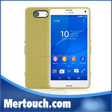 Wholesale Fashional Green smooth grid colorful Soft TPU material cover case for Sony Z3 Xperia mini cellphone back shell