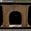 Wall Mounted Artificial Hand Carved Marble Fireplace Mantel Surround