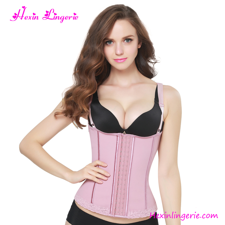 New Design Light Pink Waist Trimming Corset Body Shaper