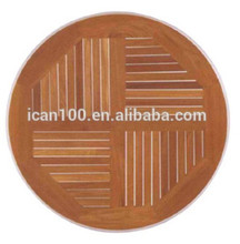 Wholesale Restaurant Durable Teak Wood Round Table Top