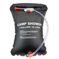 5 Gallon Outdoor Portable Solar Heated Camping Shower with On/ Off Nozzle