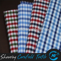 fashion T/C 65/35 100D*32S yard dye stretch check design Shirt Fabric