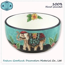 Thai Blue Ceramic Table Decoration Microwavable Animal Shaped Bowls