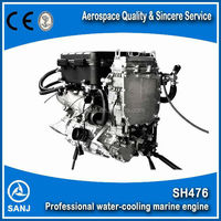 4 cylinder 4 stroke 1100cc Water Cooling Boat Engine