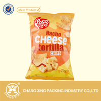 printing plastic laminated flat bags for food/snack/crisp/potato chips