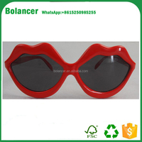 Fancy funny party festival sunglasses red lip heart shape sunglasses AK162673
