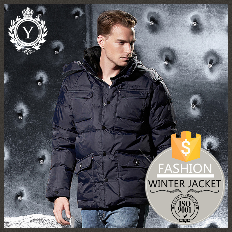 COUTUDI latest design insulated custom puffer padding solid jacket plus size XL winter coat for men