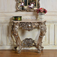 C04 European Style Silver Color Antique Mirror Consoles
