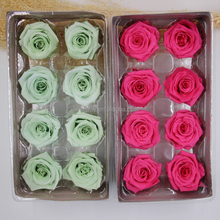 Hot sale different types of natural color preserved rose head