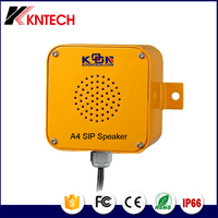 IP66 wireless call system waterproof SIP Speaker A4 Paging system for phone loud speaker