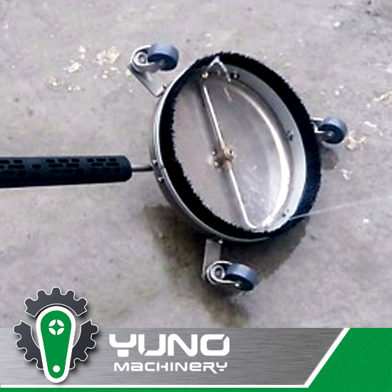 driveway pressure washer/rotating surface cleaner