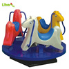 White, Pink, Yellow Three Colors Playground Merry Go Round Rotating Horse with Color Powder Coated Metal Platform