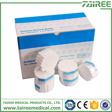 3.8cm white absorbent dental cotton roll