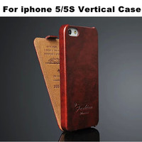 Bulk Buy Ultra Thin Luxury Unique Design Flip Vertical Leather Case For Iphone 5 Protective Cover From China