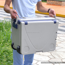 Plastic ice box with wheel/outdoor ice box/plastic ice box