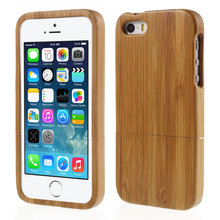 Natural Real Wood Bamboo Wooden Hard Cell Phone Case for iPhone SE 5s 5