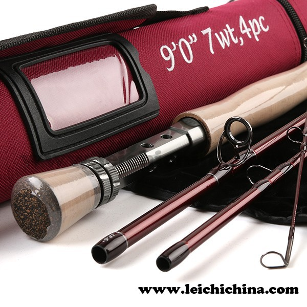 Reasonable price 30T SK carbon 9ft #7 4sec fly fishing rod of Korea