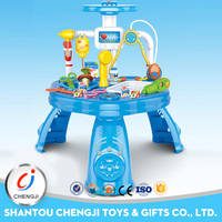 High quality plastic funny plastic doctor table play set toy medical trolley