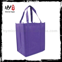 Eco friendly recycle metallic nonwoven fabric shopping bags