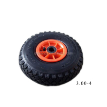 qingdao wantai pneumatic solid pu foam wheels 3.00-4 tire and rim