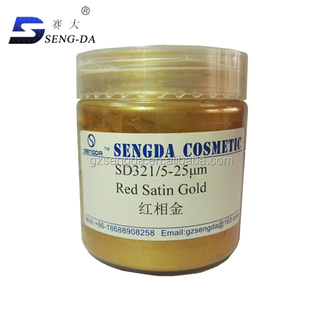 Pearlescent Red satin golden pigment on sale