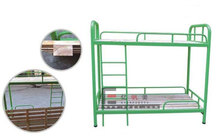 Heavy Duty Steel Metal Military Bunk Bed With Wooden Board