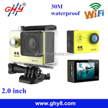 2016 Cheapest 2.0inch 170 degree lens wifi Ultra HD 4K action camera