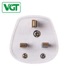 VGT Uk 2018 250V British standard Uchen supply 13A uk 3 pin light plug
