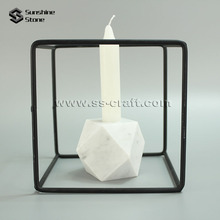 Customize White Marble Stone Simple Design Candle Stand for Home Dec