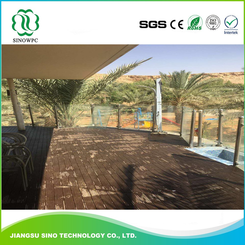 Eco-friendly swimming pool decking tile wood flooring