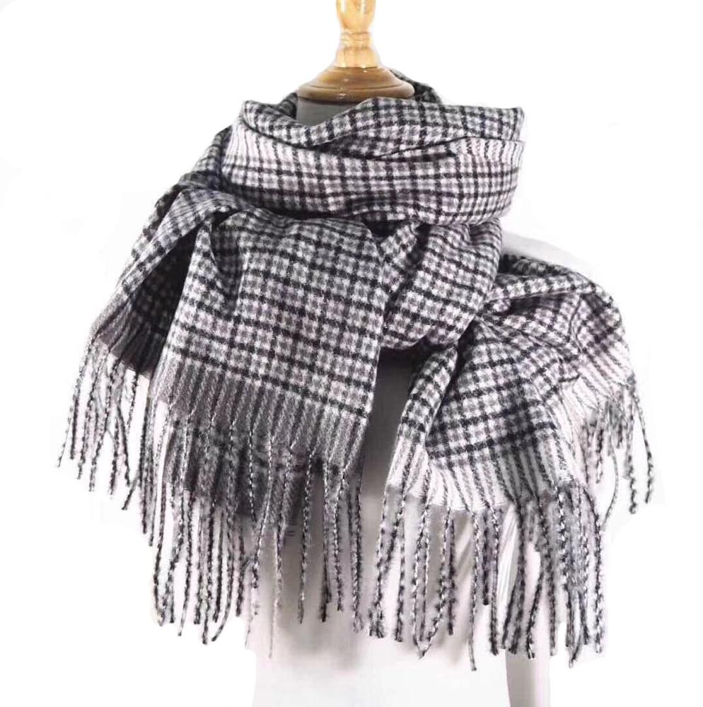 Hot ! new plaid brushed pashmina shawl wholesale winter women <strong>scarf</strong>