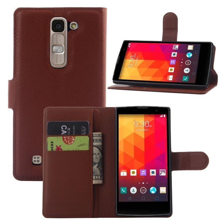 China Factory Leather Mobile Phone Case for LG G4c H525N , Stand Flip Case Cover for LG Magna