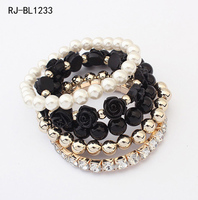 Wholesale Rose Pearl Bangles And Bracelets Cheap Silicon Bracelet