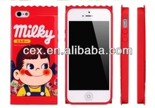 Red Peko Milky Candy Boy Girl Jacket TPU Case For iPhone 5