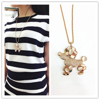 Beautiful sweater chain pendant necklace collar accessories pendant jewelry of Dog pendant necklace for women