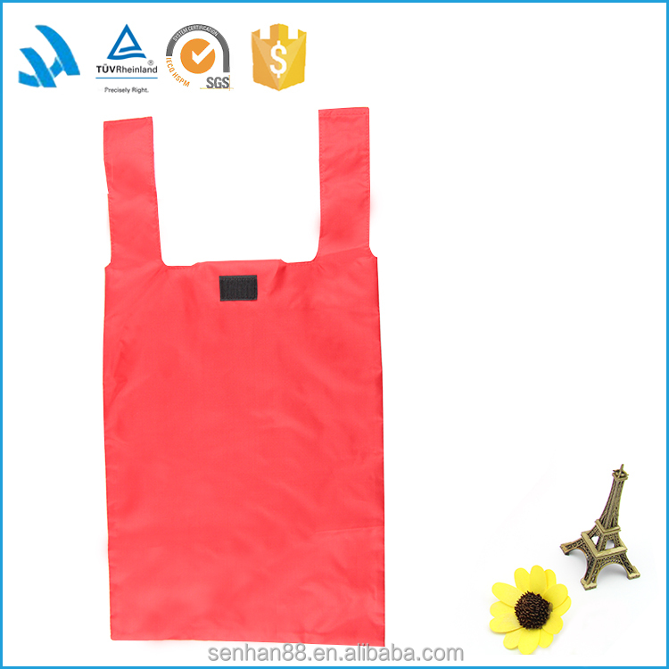 190T Polyester foldable shopping bag for supermarket grocery