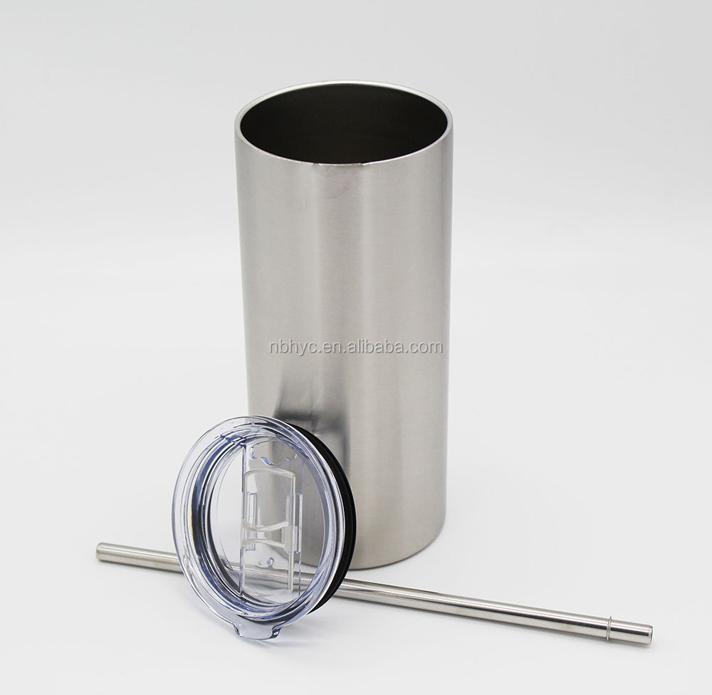 stainless steel skinny tumbler Cup,Mulite stainless steel slim tumbler,double wal thermal skinny slim tumbler with lid and straw