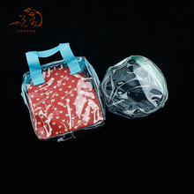 Personalized Plastic Handle Carrier Shopping PVC Waterproof Plastic Bags