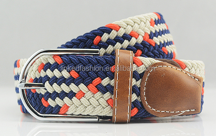 High quality Elastic High Stretch braided rope belt for men