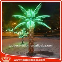 Christmas decoration palm tree table