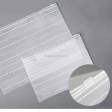 Plastic PVC Document Bags With Zipper File Folder Stationery Pen Bag For Office School Supplies