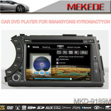 MTK800MHZ Dual Core 7inch Car auto radio player for ssangyong kyron/actyon with tv bt ipod radio video MIC 10EQ band