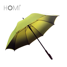 Yellow Black Color Changing Promotional Custom Straight Umbrella