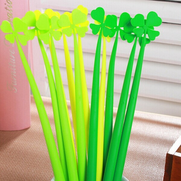 four leaf clover artificial plant ball pen for gift