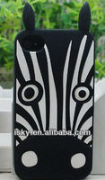Lovely Zebra Cartoon Soft Shell Case 3D Silicone Marc case by Marc anmial cute case for iPhone 5