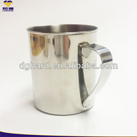 classical stainless steel promotinal travel coffee mug with handle