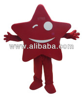 Custom Made Red Star Mascot Costume