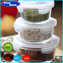 Dishwasher,Freezer,Microwave and Oven Safe Hot Sale & High Quality High Borosilicate Round Shape Glass Food Container With lid
